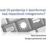 Europos pamokos. R.Juknevičienė: COVID ir dezinformacija